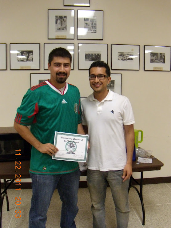 hector receives award for most active member