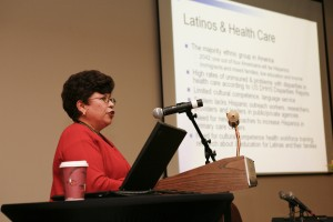 National Hispanic Medical Association  CEO, Dr. Elena Rios gives an updated report on Health Care Reform and its implications for Latino health and cancer care. Photo courtesy of Ysabel Duron from flickr.