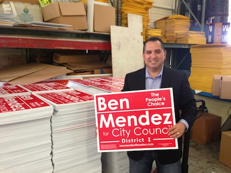 ben mendez election poster