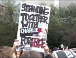 Charlie Hebdo French Vigil in Houston