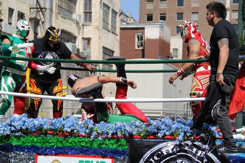 Nothing says happy Cinco de Mayo like a body slam