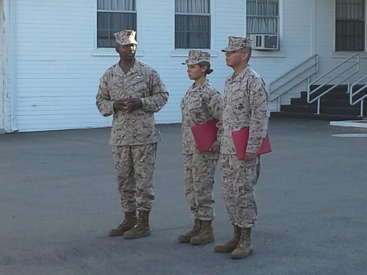 On September 4, 2012 the U.S. Marine Corps (USMC) promoted Sara Samora to corporal.
