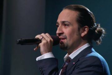 Lin-Manuel Miranda raps at the oscars