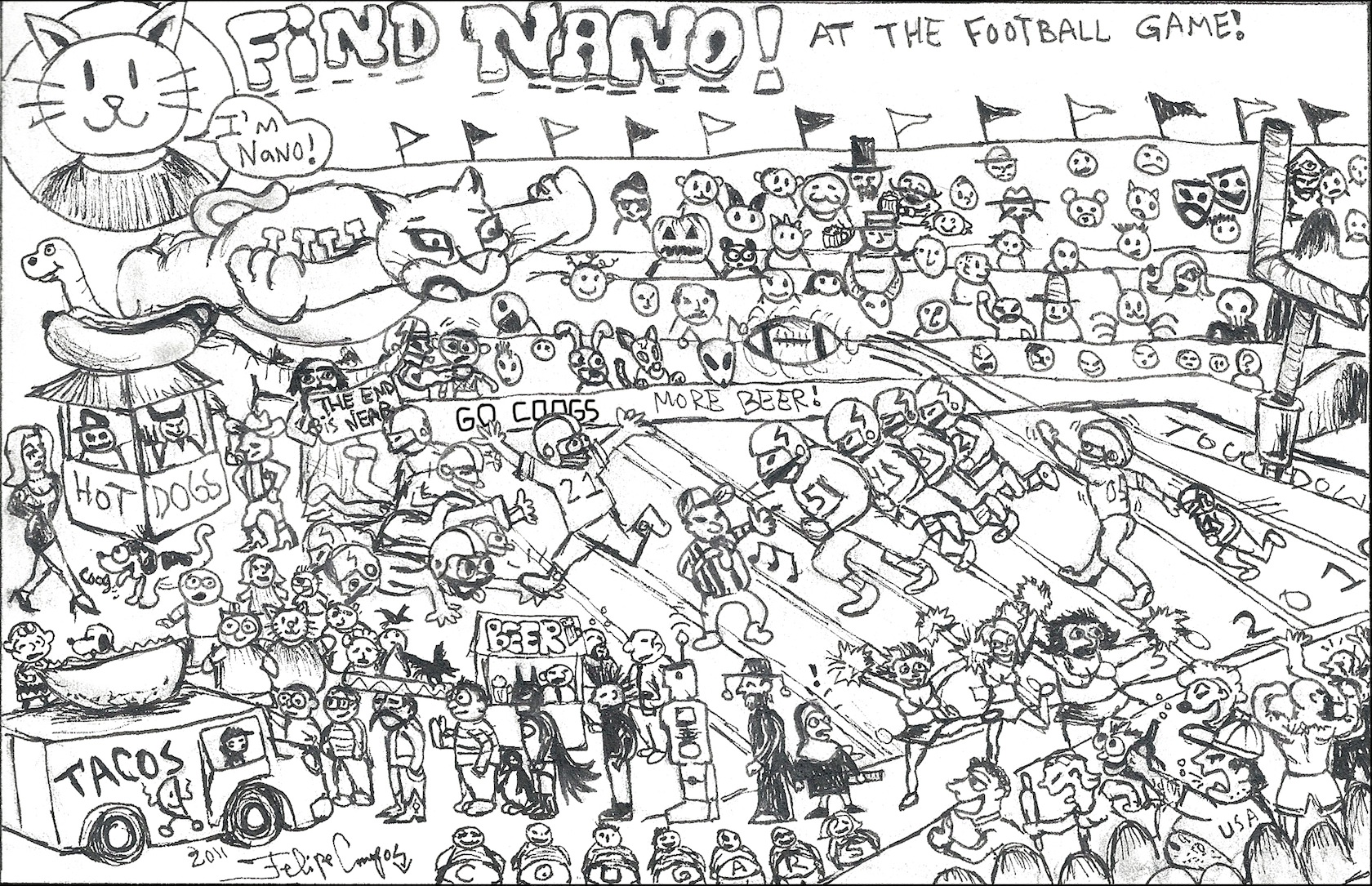 Find Nano at the UH vs. SMU football game! - The Venture
