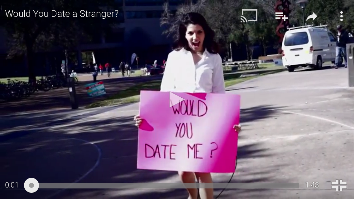 Online dating social experiment